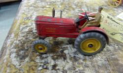Vintage Massey Harris Dinky toys in a played with condition. Each sold separately $35 - $45 each Would make a delightful Christmas gift for the boy of any age. Come see what else you might find at McRatterson's Collectibles & Antiques in the center of