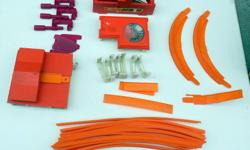 "For Sale: Vintage Mattel Hot Wheels Track and Accessories. In good played like shape. Been in storage for years. Lot consists of: 15 - 24"" Orange Track 3 - 6"" Orange Track 1 - 12"" Orange Track 1 - Orange Jump Track 2 - Orange Hot Curves - the top edges"