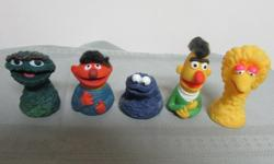 Set of five consists of Big Bird, Bert, Ernie, Oscar the Grouch and Grover. From the 1970's and in excellent condition
