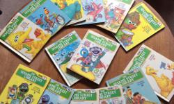 This set of 13 (Volume 1-12&14, volume#13 is SOLD) books from 1978 features Jim Henson's Muppets from Sesame Street are in excellent vintage condition and look like they have never been read. Each volume highlights different letters and a number for your