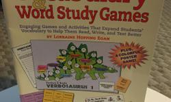 Homeschooling book about vocabulary and word study games.