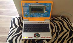 Learning Laptop 1. word fun 2. Math 3. Creative Arcade 4. My file Suitable for approximately Age 4 - 7 Works great.
