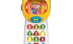 Mint condition. My daughter loved this toy but simply outgrew it. Portable activity phone teaches colors, shapes, roleplay, sounds and melodies 10 light-up shape and number buttons mimic a real phone Mode button changes the baby-friendly picture in the