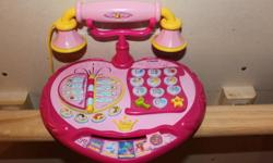 VTech Dial 'N' Learn Princess Phone   Disney princess phone Great for you little princess, to play and learn. 5 learning settings, uses 3AA batteries Smoke free home, hardly used, excellent condition, no scuffs, marks or problems with the phone. Rare to