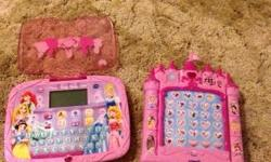 Princess Fantasy Learning Tablet and Castle Learning Computer. $20 for both. Still work, GUC. For about ages 4-6.