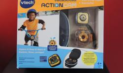 VTech Kidizoom Action Cam - IN BOX For the active kid (or pet?) the VTech Kidizoom Action Cam. See the world is their eyes as they attach the camera to their bike or. It may not be a GoPro Hero 3, but the VTech Kidizoom Action Cam also doesn't cost as