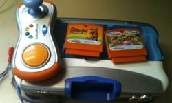 Selling a Vtech V-Motion console with Scooby Doo game and Action Mania.  It's kind of like a little kids version of Wii.  The Action Mania game has several little games, such as trying to keep balance while rolling on a ball.    Has only been used a