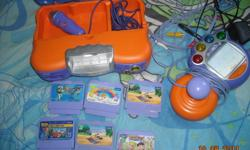 """VTech VSmile game console...comes with adapter,controller and 6 games..used gently and works great ....its awesome for a """"first time game system"""" and great for those early Christmas shoppers looking for a good deal....asking $50 or OBO)  WILL DELETE AD"""