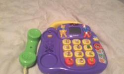 Interactive talking telephone with Tigger, Pooh and their friends 4 fun learning activities teach letters, numbers and memory skills 10 chunky buttons, a carry handle and an LCD screen displaying fun animations Features the real voice of Winnie the Pooh