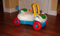 A ride on toy that can also turn into a walker $5