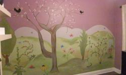 The most effective and affordable way to transform a room! I offer hand painted custom murals and small wall illustrations specializing in children?s bedrooms and playrooms. Let me help you create a dream paradise for your little one! Free Estimates! Gift