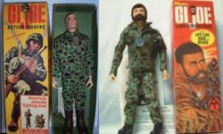 Hello, i am interested in purchasing your old Hasbro GI Joe toys. I'm looking for the original painted head 12 inch figures from 1964-1969 and also for the Bearded Fuzzy head 12 inch Adventure Team figures from 1970-1976. Loose, boxed or broken. Top