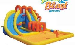 Check out our new inventory and more coming soon . Just bounce inflatables now have over 16 bouncy castles including water parks , water slides . Sumo wrestling suits and a new 24 foot inflatable sports centre . Castles range from 85$ to 200$ for a full