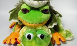 Three fabulous Webkinz Frogs by Ganz. All are in excellent, pre-owned condition. No codes. Each has the manufacturer body tag. Plush Only.