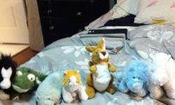 Here are a few gently used webkinz no codes but they will make great friends for kids out there text me at 403-550-1820 or email if interested thx :D there is a rhino and horse a white horse a lil kinz gold and white cat a manetee a frog and a kangaroo