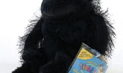 "Webkinz GORILLA with tags and sealed code. Sits about 8"" tall and is has a hairy back, arms and legs with ultra soft short plush on the head, frontal body and foot pads. Weighted on the rump, hands and feet for sitting pretty."