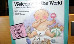 Box includes ....Book, Guide and Game ...very instructional for children. Book describes conception and birth in context of a funny story .The board game is the progress of growth from conception to birth . Great for learning centre , families expecting
