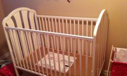 White Crib & change table for sale First $60 takes Wife just wants this stuff gone Good shape the kids have just out grown it This ad was posted with the Kijiji Classifieds app.