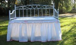 White doll crib with storage. delivery possible. $40.00
