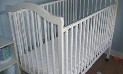 Crib in great shape, moving, so must go! Already disassembled to make room for big boy bed.  Matching change table in amazing shape also for sale.  See other ad.