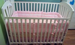 Well-cared for Elfe crib.  We bought this brand new in 2006.  Only used by one child (for a few months) as our second daughter did not like to sleep in a crib.  I love this crib as my experience with it has been all pleasurable.  Very easy to use.  The