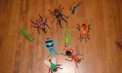This Insect Set is from the Wild Republic Collection.  Includes 9 insect figures made of light weight durable plastic.  The collection includes a Grasshopper, Ant, Butterfly, Fly and more.  Ages 3 & up. Perfect condition If this ad is visible, the item is