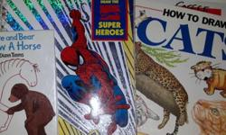 ~Hare and Bear Draw a Horse ISBN: 0-89577-532-8 MSRP $3.95 Can. 1993 ~Klutz Draw the Marvel Comics Super Heroes ISBN: 1-57054-000-4 MSRP $12.95 1995 ~How to Draw Cats ISBN: 0-7460-0996-8 MSRP $4.95 1991 All are in EUC.
