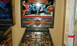 Williams Firepower 2 pinball machine , playfield waxed , new rubbers , all bulbs working , completely working machine , fun for the basement!