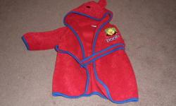 I have a red winnie the pooh bath robe to sell for 10.00.  It is sz 12-18 months.  It has ears on the hood, and is very warm.  my son grew out of it.  smoke and pet free home.