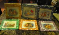 I have a Winnie the Pooh six book set of Groiler books. These books are in excellent shape.