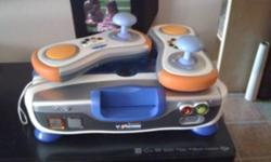 V tech v motion learning system comes with 5 games and 2 wireless controllers and batteries asking 35 obo text or email me at 2268026607 This ad was posted with the Kijiji Classifieds app.