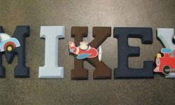 Wood Names/Letters for the wall Do you want a gift for a new mom or mom-to-be that is more than just a bag of rattles and pacifiers??? Or something extra to decorate your nursery I can customize your childs name to match babies room }l{ Butterfly Kisses