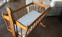 The wooden baby hanging cradle offers a snug, safe and secure environment in which babies can relax and sleep, during the early weeks and months after birth. Made of premium quality materials, it features a gentle swinging motion that lulls your baby into