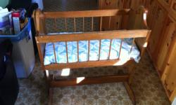 Very nice cradle can be use for baby or a little girl would love it for her dolls. This ad was posted with the Kijiji Classifieds app.
