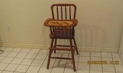 Wooden High Chair for sale, excellent condition