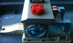 I am selling the last of my son's Thomas wooden stations.     SODOR SCRUB & SHINE   SUDDERY STATION ( talks)     They are like new asking for $45.00 each  or $80.00 for both.