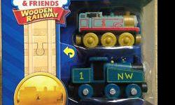 only $15 each. Authentic Thomas Trains NEW in pk. (reg$28 +tax) Choose from: Gordon/tender; James/tender; Introducing James; Mike & tender; Thomas & the Flour Car; Henry/tender; Hiro/tender; Caitlin/tender; Connor/tender; Flynn/tender; Ferdinand/tender;