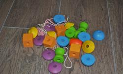 Plan toys wooden threading beads.