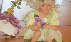 """The fairy depicted actually looks like a real child! Stands about 17"""" and is very unique..."""