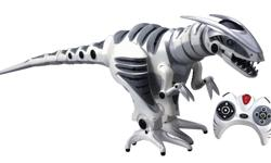 Description: Product Description Evidence that the robotic dinosaur revolution is spreading, this Roboraptor comes fully assembled and ready to roam the earth with his robotic dinosaur cousins. He has movable arms, a swiveling head, a sweeping tail, and a