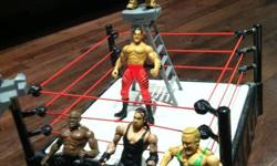 3 wresting rings. 4 small wrestlers. 5 large wrestlers. See my other ads.