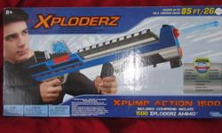 Xploderz, a new firing system that will change the way you shoot forever! With more distance, more ammo and more fun! Xploderz XPump Action 1500 Blaster can shoot huge ranges of 50 to 85 feet. They carry almost 75 rounds of ammo before you will need to