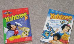 Disney yahtzee games, $5 for both or $3ea.