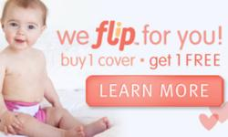 Spread the love this valentines day and pick up your favorite flip cover in Zinnia or Noodle for free when you purchase another cover!   Saving you 16.95$ and making a great travel set for cloth diapers.   Check out our other flip products such as the