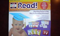 Your Baby Can Read! as seen on TV and purchased at Walmart for $79.99, and thats before tax. Everything is as seen in these pictures.....perfect. Everything's included, all dvds work great, and never too early to start. Feel free to give me a call if you