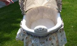 This bassinet was used for only 3 months with my daughter. It comes from a smoke free home and also plays music, vibrates, and has a night light on it as well. Great condition email or text message if interested. 226-678-2582 This ad was posted with the
