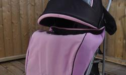 Zooper Light Weight Stroller in Excellent Condition.  Complete with All Purpose Canopy and Foot Muff.